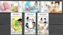 SINGAPORE, 2021, MNH, DOCTORS, MEDICAL SCHOOL, COLLEGE OF FAMILY PHYSICIANS SINGAPORE ,6v - Other