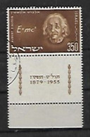 A La Mémoire D'Albert Einstein - Used Stamps (with Tabs)