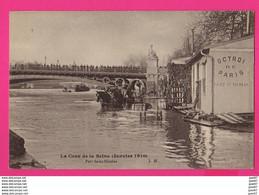 CPA  (Ref: Z2261) PARIS (75 PARIS)  Crue De La Seine  Port Saint-Nicolas (attelage, Barrique) - Überschwemmung 1910