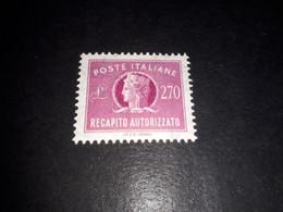 "ITAMIX36 REP. ITALIANA 1965 RECAPITO AUTORIZZATO LIRE 270 ""XX"" - Paketmarken"
