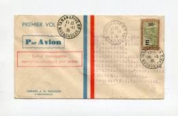 !!! MADAGASCAR, VOYAGE D'ETUDE CIRCULAIRE DE M ASSOLANT, LETTRE PAR AVION DE TANANARIVE DU 28/10/1936 AVEC 14 ETAPES - Covers & Documents