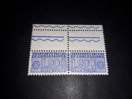 """ITAMIX36 REP. ITALIANA 1976 PACCHI POSTALI LIRE 900 CON APPENDICE """"XX"""" - Paketmarken"""