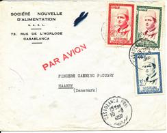 Morocco Cover Sent Air Mail To Denmark Casablanca 10-6-1959 - Marokko (1956-...)