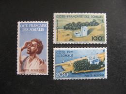 C). Cote Des Somalis: TB Serie  PA N° 20 Au N° 22, Neufs X. - Unused Stamps