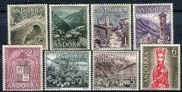 Andorra 1963. Edifil 60-67 ** MNH. - Unused Stamps