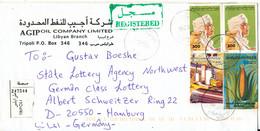 Libya Registered Cover Sent To Germany 2-10-2000 - Libya