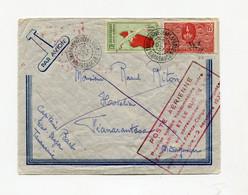 !!! LETTRE PAR AVION DE TANANARIVE DU 29/10/1937 CACHET 1ER SERVICE HEBDO ENTRE TANANARIVE ET LE SUD DE L'ILE.. - Covers & Documents