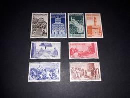"""ITAMIX36 REP. ITALIANA 1946 AVVENTO DELLA REPUBBLICA SERIE 7 VALORI """"XX"""" - Paketmarken"""