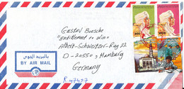 Libya Registered Air Mail Cover Sent To Germany - Libya