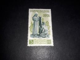 """ITAMIX36 REP. ITALIANA 1948 6'' CENTENARIO NASCITA DI SANTA CHIARA LIRE 3 (1) """"XX"""" - Paketmarken"""