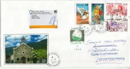 Lettre D'Andorre Adressée à Vaduz (Liechtenstein) Pendant Confinement Covid-19 Andorre, Retour à L'expediteur - Briefe U. Dokumente
