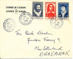 France Cover Sent To Denmark 17-10-1956 Very Good Franked - Briefe U. Dokumente