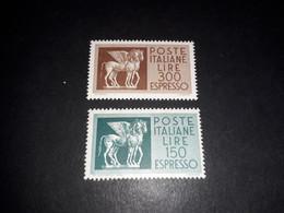 "ITAMIX36 REP. ITALIANA 1958-66 ESPRESSI CAVALLI ALATI 2 VALORI ""XX"" - Paketmarken"