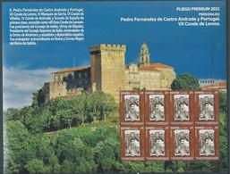 ESPAGNE SPANIEN SPAIN ESPAÑA 2021 PREMIUN PANE PEDRO FERNÁNDEZ DE CASTRO ANDRADE Y PORTUGAL ED 5532 MI 5573 YT 5272 - 2011-... Nuovi & Linguelle