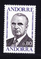 ANDORRE N°  249 ** MNH Neuf Sans Charnière, TB (D9667) Président Georges Pompidou - 1975 - Ungebraucht