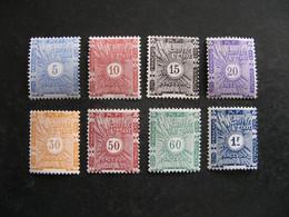 Cote Des Somalis: Série  Timbre-Taxe N° 1 Au N° 8, Neufs X. - Unused Stamps