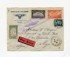 !!! VOL SPECIAL DE L'AEROCLUB DE PROVENCE, LETTRE PAR AVION D'ALGER DU 19/11/1926 AVEC VIGNETTES MARSEILLE - ALGER - Covers & Documents