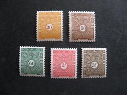 Cote Des Somalis: TB Série  Timbre-Taxe N° 39 Au N° 43, Neufs X. - Unused Stamps