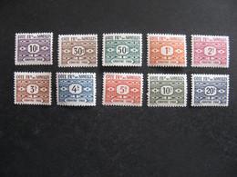 Cote Des Somalis: TB Série  Timbre-Taxe N° 44 Au N° 53, Neufs X. - Unused Stamps