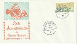 ATM 1981 FDC - Automatenmarken