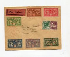 !!! LETTRE PAR AVION D'ALGER POUR TUNIS 15/5/1930, AFFRANCH COMPLENTAIRE AVEC LES 6 VIGNETTES EMISES POUR CE VOL - Covers & Documents