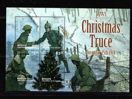 St Vincent Bequia 2014  Sc # Bf    MNH **  Christmas Truce 1914 - WW1 (I Guerra Mundial)
