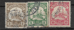 Deutsches Reich, 3  Gestempelte Werte Der Ausgabe Für Die Kiautschou Von 1901 - Kolonie: Kiautschou