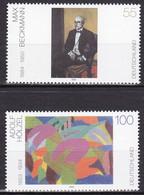 Série De 2 T.-P. Neufs** - Peinture Allemande Du 20e Siècle Max Beckmann Adolf Hölzel - N° 2143-2144 (Yvert) - RFA 2003 - Ungebraucht