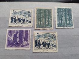 China 1958 Afforestation Campaign MN MNH - Ungebraucht
