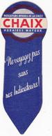 Ancien Marque-page Signet Chaix, Horaires Mayeux/bijoux Fix - Bookmarks