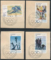 RDA-J.O D'Hiver Lake Placid YT 2141-2144 Obl./ DDR-Olympische Winterspiele Mi.Nr. 2478-2481 Gest. - Gebraucht