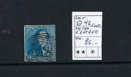 Belgique. N°2 Médaillon 20c.  42 Fontaine L'Evêque. - 1858-1862 Medallions (9/12)