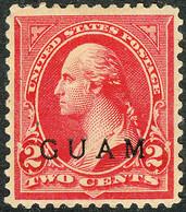 United States Possession Of Guam 1899, 2 Cents Rose Carmine George Washington Overprinted Issue Mi.# 2, MH Signed - Guam