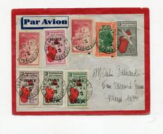 !!! MADAGASCAR, ENTIER POSTAL PAR AVION DE TANANARIVE DU 26/4/1943 POUR PARIS - Covers & Documents