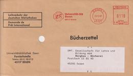 Absenderfreistempel - Essen, Universität GH (Bibliothek), 1997 - Briefe U. Dokumente