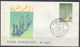 MAROC 1987 FDC Enveloppe Oblitération 1er JOUR Y&T N° 1032 - Marokko (1956-...)