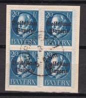 Bayern - 1919 - Michel Nr. 121 A K1 Viererblock - Gestempelt - 30 Euro - Bayern