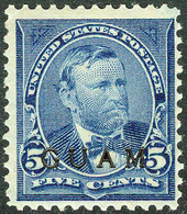 United States Possession Of Guam 1899, 5 Cents Blue Ulysses S. Grant Overprinted Issue Mi.# 5, MH - Guam