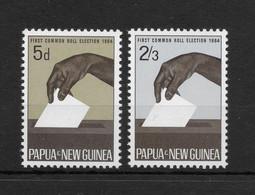 PAPUA NEW GUINEA * 1964 * Complete Set 2 Stamps * MNH** Elections - Mi.No 56-57 - Papua New Guinea