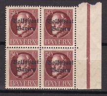 Bayern - 1919 - Michel Nr. 125 A Viererblock Rand - Postfrisch/Ungebr. - Bayern