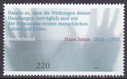 Timbre-poste Neuf** - Centenaire De La Naissance Du Philosophe Hans Jonas - N° 2165 (Yvert) - Allemagne Fédérale 2003 - Ungebraucht