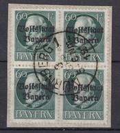 Bayern - 1919 - Michel Nr. 126 A Viererblock - Gestempelt - 30 Euro - Bayern