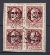 Bayern - 1919 - Michel Nr. 135 A Viererblock - Gestempelt - 30 Euro - Bayern