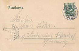 DRESDEN  -  1906  ,  Perfins / Firmenlochung  - A.A.G.  -  AK  Nach Chemnitz - Briefe U. Dokumente