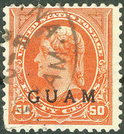 United States Possession Of Guam 1899, 50 Cents Orange Thomas Jefferson Overprinted Issue Mi.# 10, Used - Guam