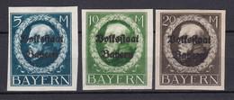 Bayern - 1920 - Michel Nr. 131/133 B - Ungebr. - Bayern