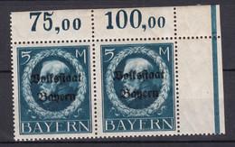 Bayern - 1919 - Michel Nr. 131 A Paar P OR - Postfrisch - Bayern