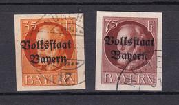 Bayern - 1920 - Michel Nr. 134/135 B - Gestempelt - 50 Euro - Bayern