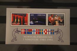Dänemark-Foroyar 1993, Haus Des Nordens, Musik, MNH - Blocks & Kleinbögen