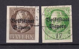 Bayern - 1920 - Michel Nr. 116/117 B - Gestempelt - 50 Euro - Bayern